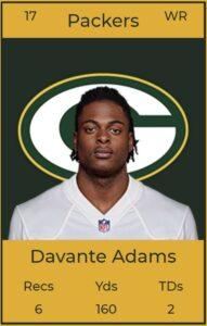 Offensive Player of the Week 8 Devante Adams